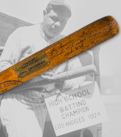 1924 Babe Ruth First Home Run of Season Game Used & Signed Bat with Extraordinary Provenance, PSA/DNA GU 10