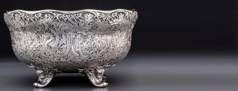 A Historic Whiting Mfg. Co Acid-Etched Silver Trophy Bowl for the National Horse Show Association of America,