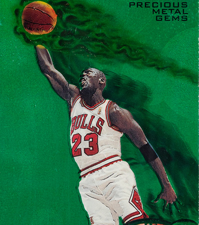1997 Metal Universe Michael Jordan (Precious Metal Gems - Green) #23 PSA Authentic - #'d 9/100