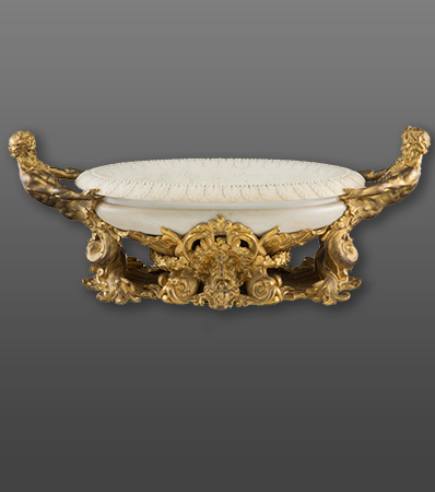 A Gilt Bronze Mounted Marble Centerbowl, 20th century
