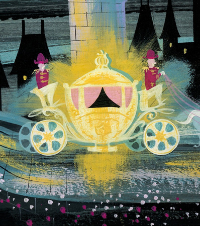 Mary Blair Cinderella Magic Coach Concept Painting (Walt Disney, 1950)