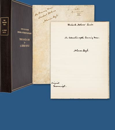 Arthur Conan Doyle Autograph Manuscript The Adventure of the Dancing Men Signed Three Times.