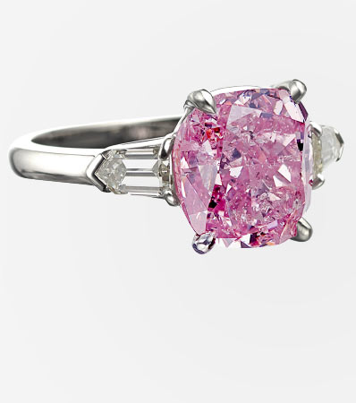 Fancy Intense Purplish-Pink Diamond, Diamond, Platinum Ring