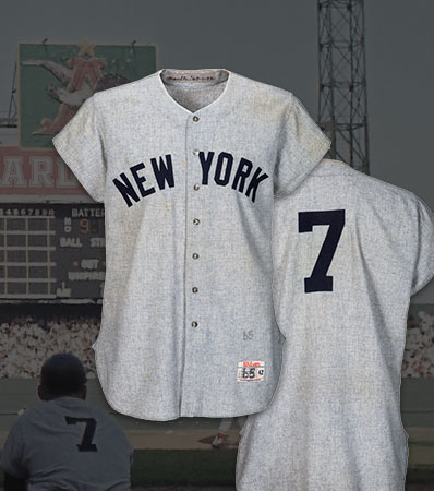 1964 Mickey Mantle World Series Home Run Record-Setting Game Worn New York Yankees Jersey, MEARS A9.