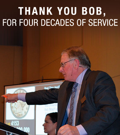 THANK YOU, BOB, FOR FOUR DECADES OF SERVICE