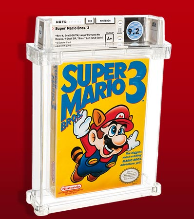 Super Mario Bros. 3 - Wata 9.2 A+ Sealed Bros. Left, First Production, NES Nintendo 1990 USA.