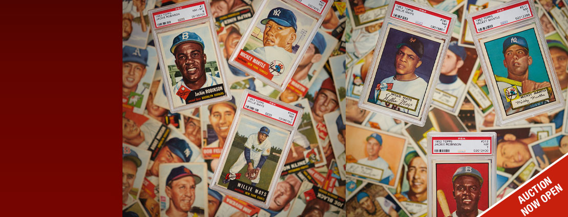 January 30 The 1952 Topps & 1953 Topps PSA Set Registry Auction #50022