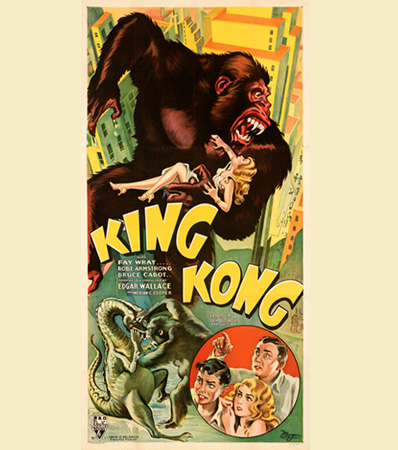 King Kong (RKO, 1933). Very Fine+ on Linen