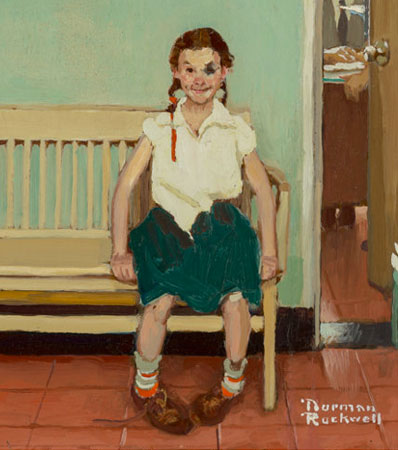 Norman Rockwell (American, 1894-1978), Girl with Black Eye (The Shiner)