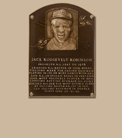 1962 Baseball Hall of Fame Induction Plaque Presented to Jackie Robinson