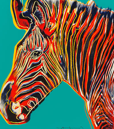 Andy Warhol (1928-1987) - Grevy's Zebra, from Endangered Species, 1983