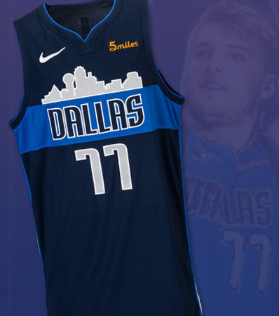 2018-19 Luka Dončić (Doncic) Game Worn & Signed Dallas Mavericks Rookie Jersey with Team Letter--Photo Matched!