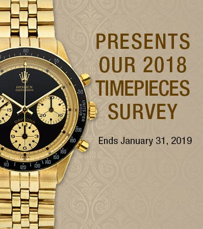 2018 TIMEPIECES SURVEY