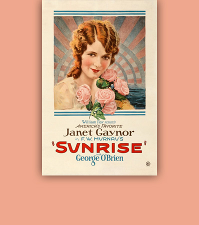 Sunrise (Fox, 1927). Fine/Very Fine on Linen