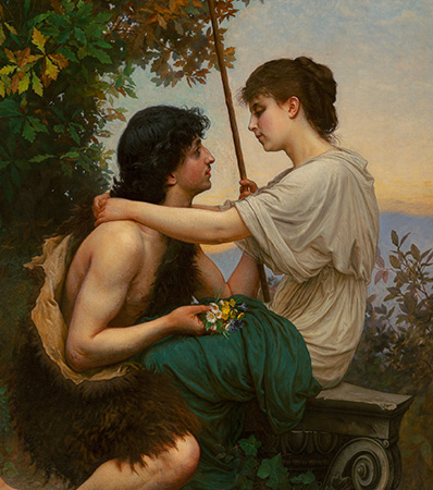 Camille Félix Bellanger | Daphnis and Chloe, 1893