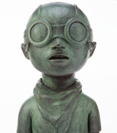 Hebru Brantley Fly Boy Bronze (Green), 2017