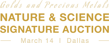 March 14 Nature & Science Signature Auction - Dallas #8026