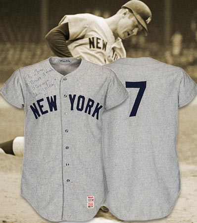 968 Mickey Mantle Game Worn New York Yankees Jersey Attributed to 535th Home Run, MEARS A10.