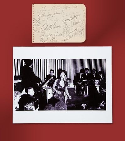 Billie Holiday and Band Autograph Set