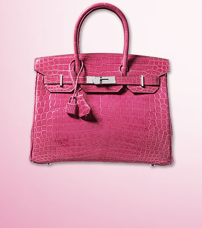 Hermes 30cm Fuchsia Nilo Crocodile Birkin Bag with Palladium Hardware