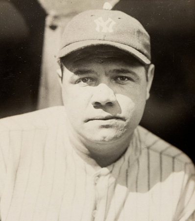 Circa 1924 Babe Ruth Famous 'Bubble Gum Cap' Photograph by Charles Conlon, PSA/DNA Type 1