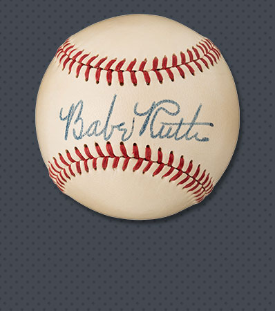 1948 Babe Ruth Single Signed Baseball, PSA/DNA Mint 9