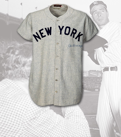 1947 Joe DiMaggio World Series Game Five Worn & Signed New York Yankees Jersey