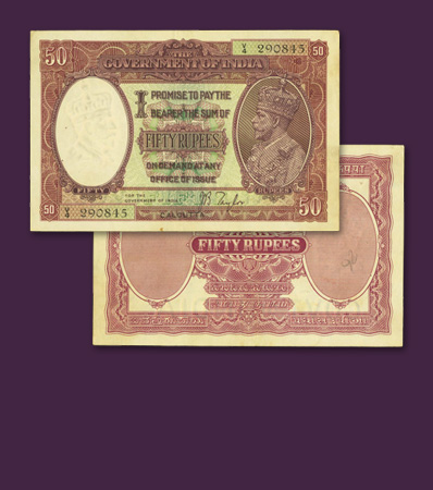 Condition Census Calcutta 50 Rupees India, Calcutta 50 Rupees ND PCGS Extremely Fine 45