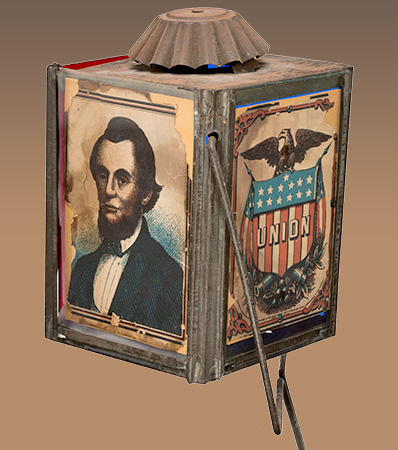 Abraham Lincoln: A Fabulous, Colorful Political Glass & Tin Parade Lantern