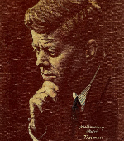 Norman Rockwell (American, 1894-1978)Portrait of John F. Kennedy, The Saturday Evening Post cover study, April 6, 1963