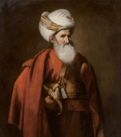 English School (18th Century), Portrait of a gentleman in Turkish dress