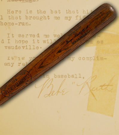 1921 Babe Ruth 52nd Home Run (Career #155) Game Used 'Hotel Ansonia' Bat, PSA/DNA GU 10