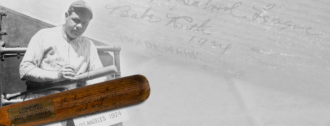 1924 Babe Ruth First Home Run of Season Game Used & Signed Bat with Extraordinary Provenance, PSA/DNA GU 10.