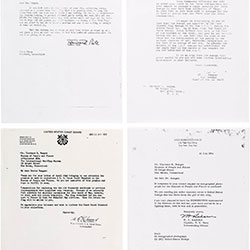 A Selection of the Many letters of Donation and Transmittal from the Rungee Files