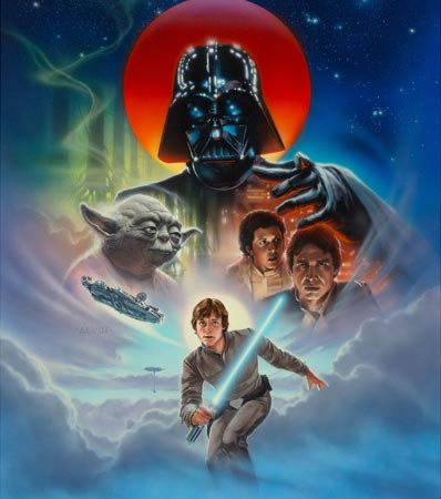 Star Wars: The Empire Strikes Back, International Video Cover, 1995 John Alvin (American, 1948-2008)