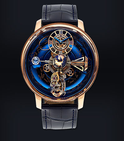 Jacob & Co, Astronomia Sky, 18k Rose Gold Sidereal Celestial Panorama Triple Axis Tourbillon, Ltd Ed. 06/18, Circa 2017