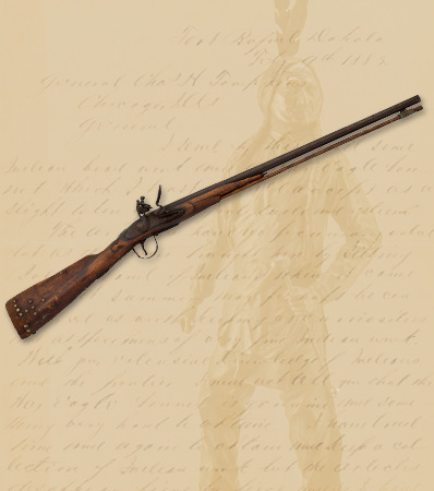 Sitting Bull's Identified Flintlock Carbine with Standing Statue