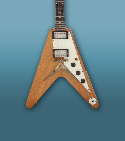 The Kinks-Dave Davies 1958 Gibson Flying V Korina Solid Body Electric Guitar, Serial # 8-4643