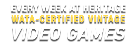 Weekly WATA-Certified Vintage Video Games