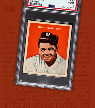 1932 U.S. Caramel Babe Ruth #32 PSA Mint 9 - Pop Two, None Higher!