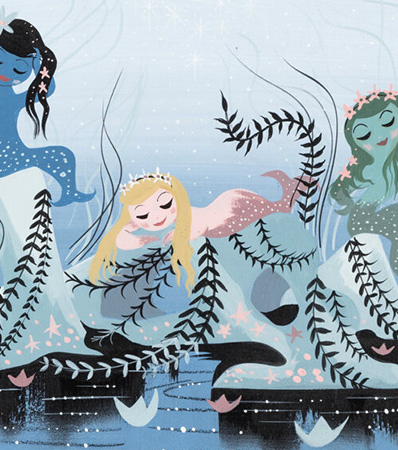 Mary Blair Peter Pan Mermaids Concept/Color Key Painting (Walt Disney, 1953).