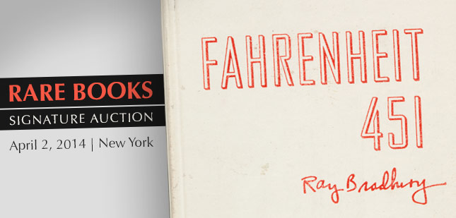 Rare Books Signature Auction - April 2, 2014 in New York