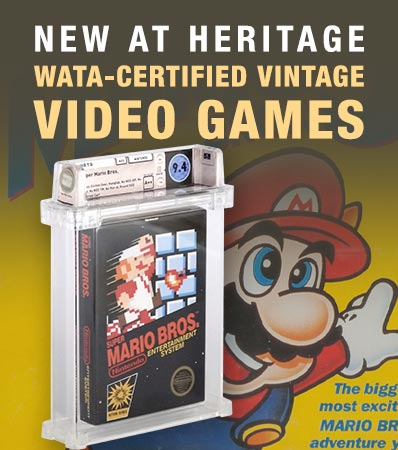 WATA-certified vintage video games