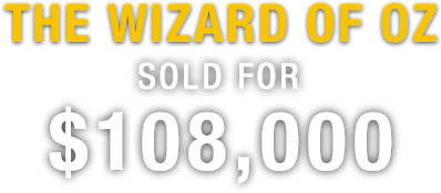 The Wizard of OZ Sold for $108,000