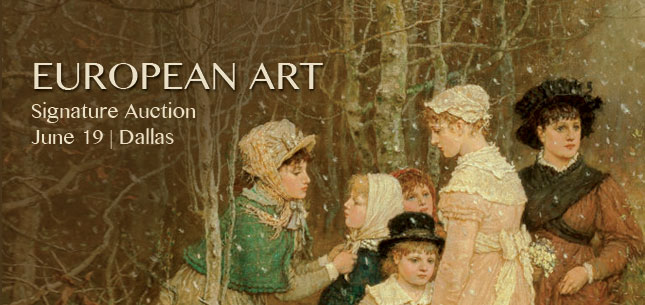 2015 June 19 Fine European Art Signature Auction - Dallas #5217