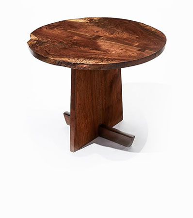 Mira Nakashima (American, b. 1942) - Custom Minguren I Round Side Table, 2005