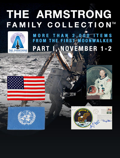 The Neil Armstrong Family Collection(TM) Debuts at Heritage Auctions | More than 2,000 items from the first moonwalker beginning November 1-2