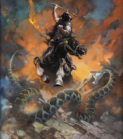 Frank Frazetta Death Dealer 6 Painting Original Art (1990) sold for $1,792,500