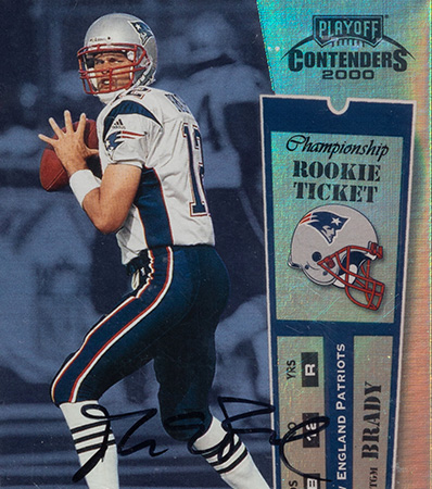 2000 Playoff Contenders Championship Ticket Tom Brady Rookie #144 (34/100) BGS NM-MT+ 8.5 Auto 10