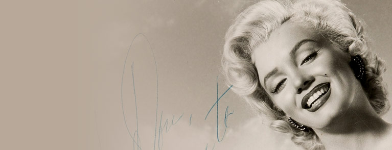 A Marilyn Monroe Signed Black and White Photograph, Circa 1953